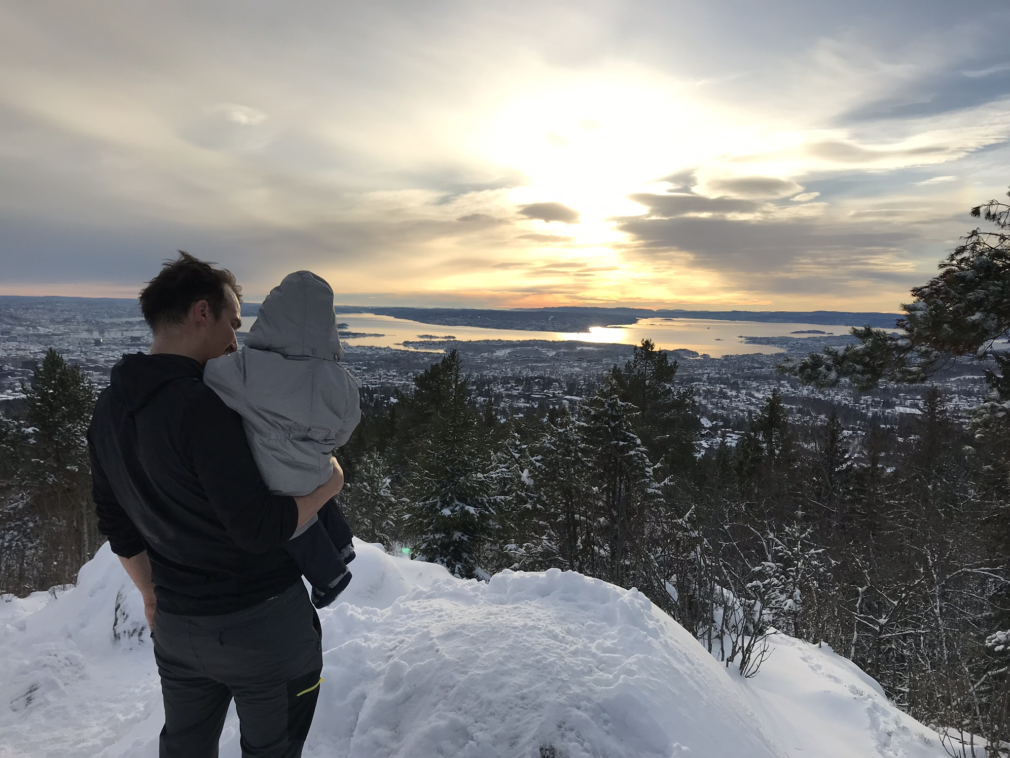 The first snowy trip to the top of Vittakollen