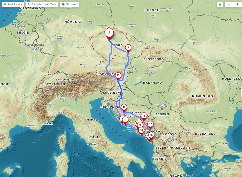 Itinerary Bosnia and Herzegovina, Montenegro and Croatia roadtrip 2020 1
