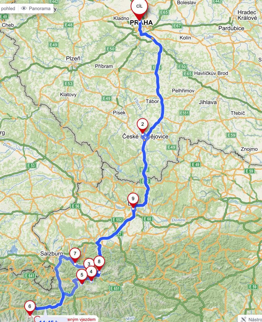 První cyklo dovolená k rakouským jezerům 1